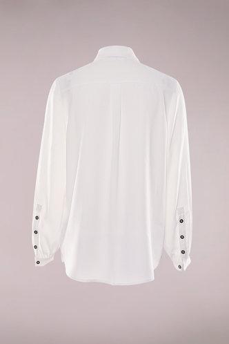 back_Sugar Sugar White Long Sleeve  Button Up Top