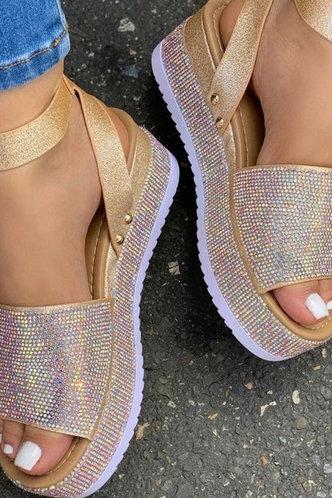 back_Nydia Elva Gold Glitter Flatform Sandals