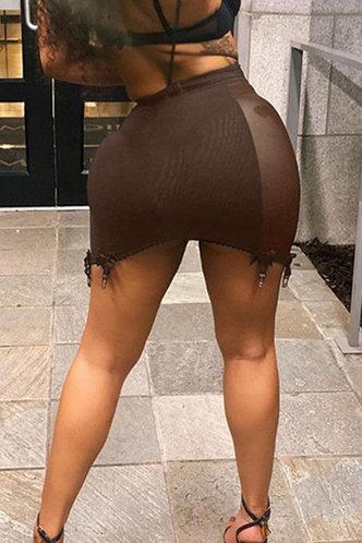 back_Hillary Elsie Brown Skirt