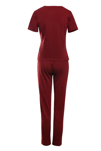 back_Modern Girl Burgundy Lounge Set