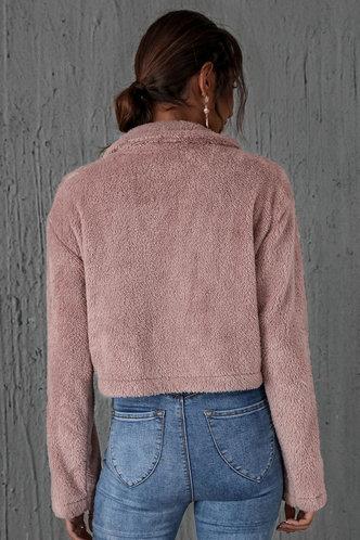 back_Heartbeat Dusty Pink Teddy Jacket