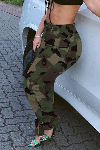 back_Selma Eleanore Green Camo Jeans