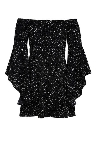 back_My dream Black And White Polka Dot Dresses