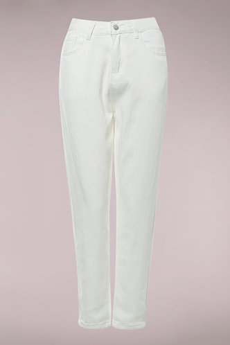 front_Loving Is Easy White Jeans Without Belt
