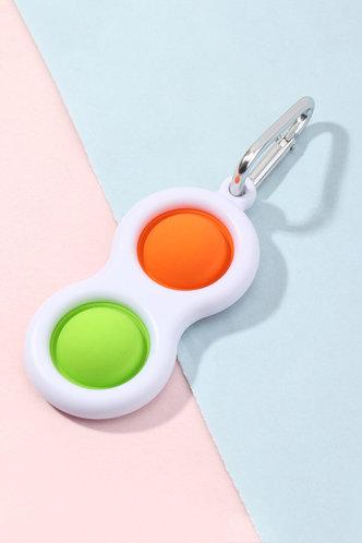 front_Alvira Elizabeth Orange And Green Stress Relief Keychain