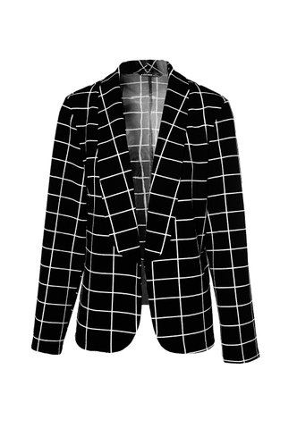 front_Checks Every Box {color} Blazer