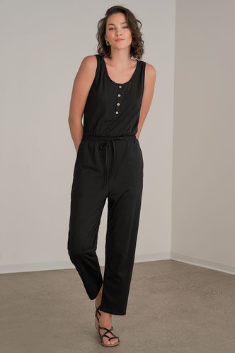 front_Keep Me in Your Heart Black Jumpsuit