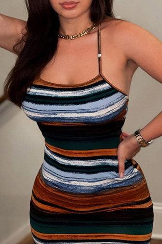 back_Gabrielle Kradan Striped Cami Bodycon Dress