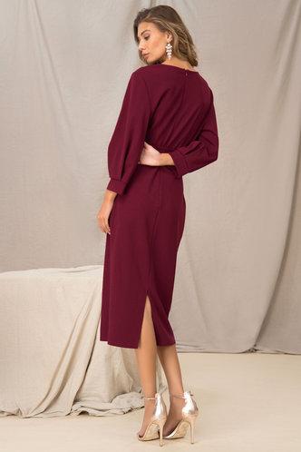 back_For Show Burgundy Surplice Wrap Dress