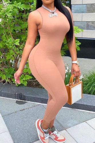 front_Estelle Evangeline Rust Jumpsuit
