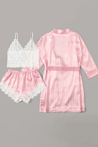 front_Theodora Elma Pink Plaid Set