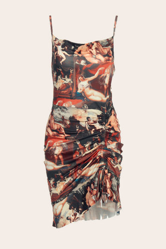 back_Caroline Edith Multicolor Ruched Dress