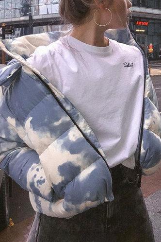 front_Hackett Multicolor Puffer Jacket