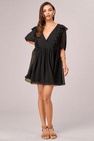 front_Moondance Black Mini Dress