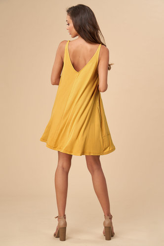back_Free Style {Color} Shift Dress