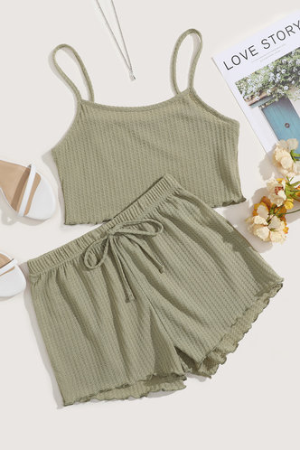 front_Charis Eleanore Olive Green Set
