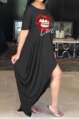 back_Bella Oktoped Black Plus Oversized Dress