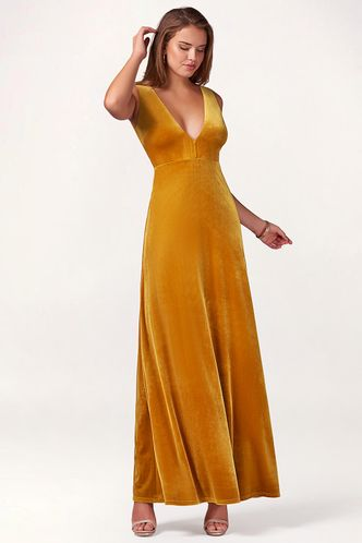 front_Party Time {Color} Velvet Maxi Dress