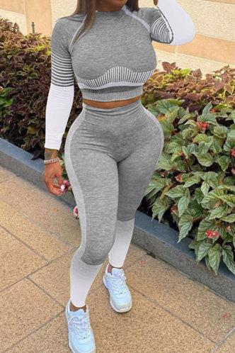 front_Flossie Erica Light Grey Activewear Set