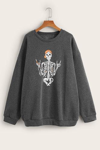back_Ricarda Edith Dark Grey Sweatshirt