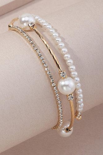 front_Laurel Erica Gold And White Bracelet