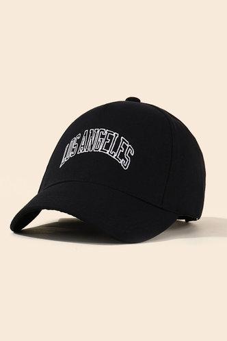 front_Imogene Eleanore Black Baseball Cap
