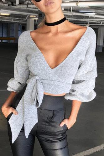 back_Emilia Eileen Light Grey Sweater