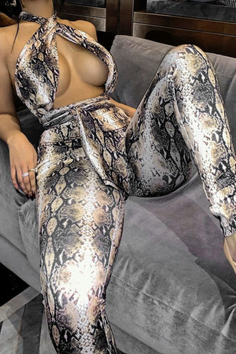 front_Mandy Ella Snakeskin Print Jumpsuit