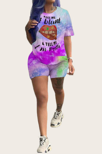 front_Crystal Marban Tie Dye Shorts Set