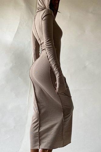 back_Marcella Edith Khaki Dress