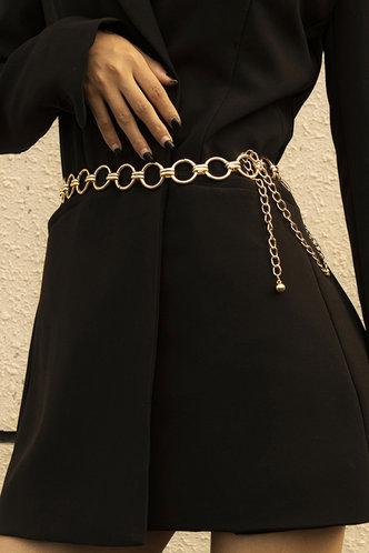 front_Diane Erica Gold Waist Chain