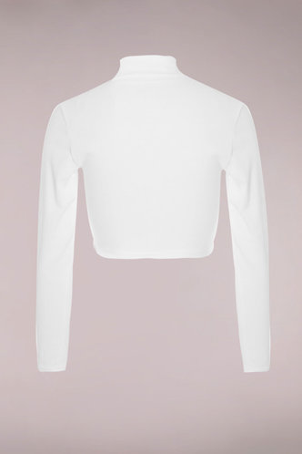 back_Emmerson White Long Sleeve Crop Top
