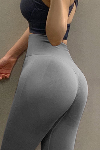 front_Gladys Eden Grey Activewear Bottom