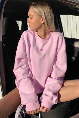 front_Alicia  Pink  Sweatshirt