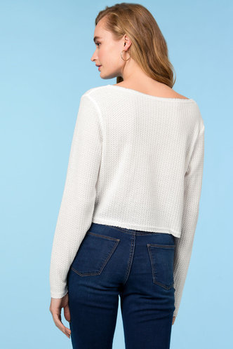 back_Loose Love White Crop Top