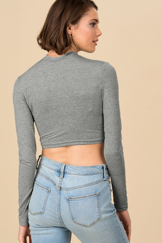 back_Pointelle Me More {color} Long Sleeve Top