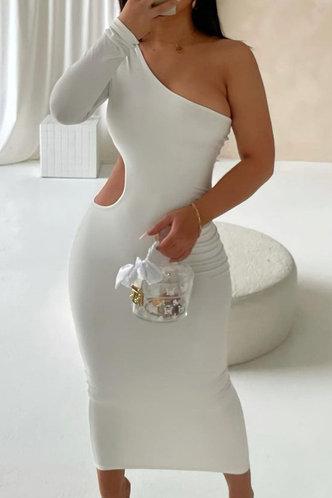 front_Plain  White Maxi Dresses