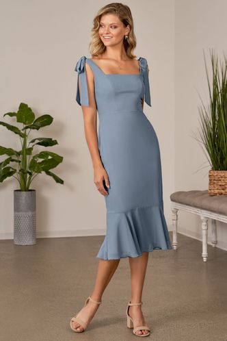 front_With Hope Dusty Blue Midi Dress