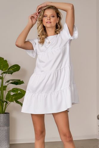 front_With All My Heart White Mini Dress