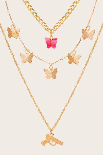 back_Simona Enid Gold Necklace 3pcs