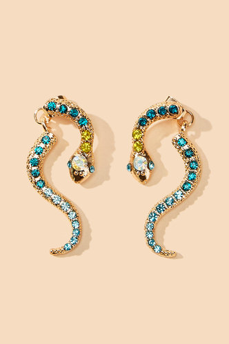 back_Apple Eleanore Emerald Green And Gold Ear Climber 1pair