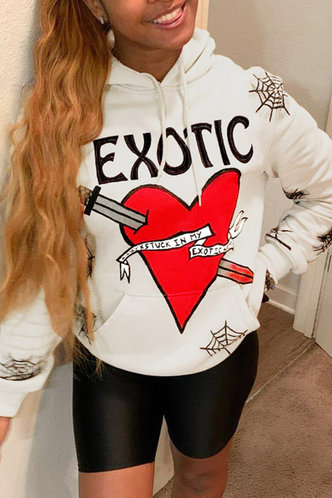 front_Eartha Famili White Sweatshirt & Hoody