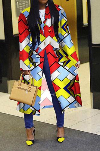 front_Amanda Eve Colorblock Trench Coat