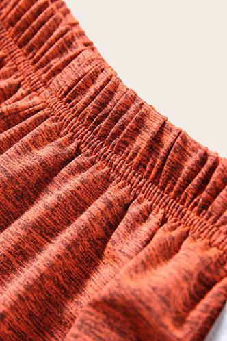 back_Darlene Eleanore Rust Orange Short