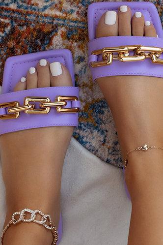 front_Ivory Emma Purple Open Toe Slide Sandals