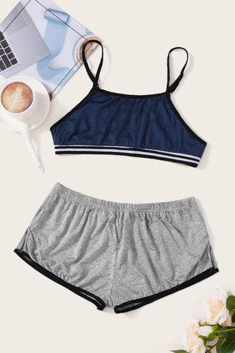 front_Eileen Kamino Blue And Grey Loungewear Set
