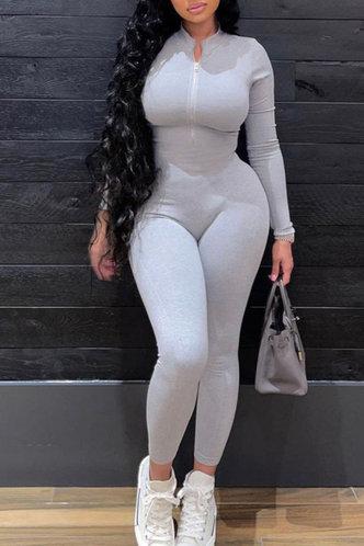 back_Jeannette Fajrer Light Grey Jumpsuit