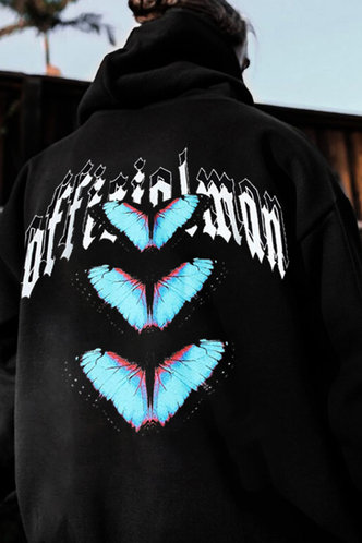 back_Casual  Black Men Sweatshirts & Hoodies