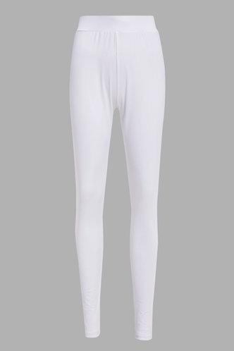 back_Mid Waist Plain Pencil Pants White Pants