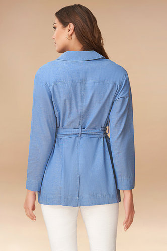 back_Another Day Denim Blue Shirt Jacket